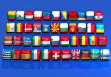 Indicadores europeos Fotografía de archivo libre de regalías