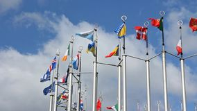 Indicadores europeos almacen de metraje de vídeo