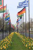 Indicadores internacionales en La Haya Imagen de archivo libre de regalías
