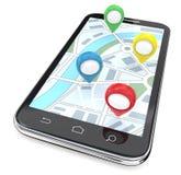 Indicadores móviles de GPS libre illustration