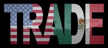 Indicadores mexicanos americanos comerciales stock de ilustración