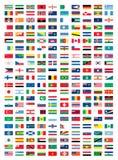 Banderas nacionales Imagen de archivo libre de regalías