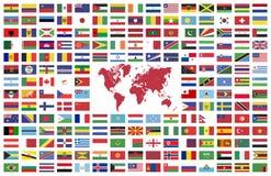 Banderas de pa?s del mundo ilustración del vector