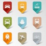 Indicadores retros del web colorido del sistema para el transporte Imágenes de archivo libres de regalías