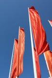 Indicadores rojos Foto de archivo libre de regalías