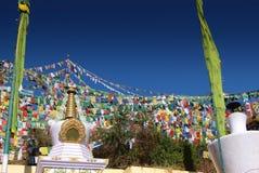Indicadores tibetanos de los rezos Imagenes de archivo