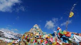 Indicadores tibetanos del rezo Foto de archivo libre de regalías