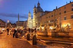 Indicadores velhos bonitos em Roma (Italy) fotografia de stock