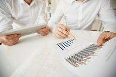 Indicando al diagramma Immagine Stock