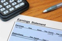 Indicação do salário Imagens de Stock