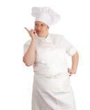 Indicare cuoco femminile grasso, serie Fotografia Stock Libera da Diritti