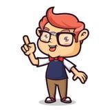Indicare del geek del nerd illustrazione di stock