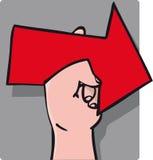 Indicare del segno della mano Fotografie Stock Libere da Diritti