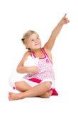 Indicare della bambina Fotografie Stock