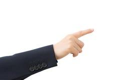 Indicare della mano di affari Immagini Stock