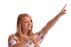 Indicare della ragazza Fotografia Stock Libera da Diritti