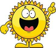 Indicare di Sun del fumetto Fotografie Stock