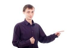 Indicare divertente dell'uomo della nullità Fotografia Stock Libera da Diritti