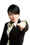 Indicare donna di affari Immagini Stock Libere da Diritti