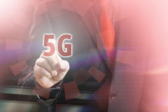 indicare 5G Immagine Stock