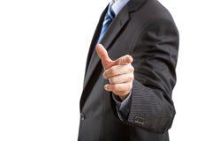 Indicare gesto Fotografia Stock Libera da Diritti