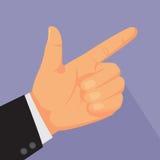 Indicare i segni della mano. Immagine Stock