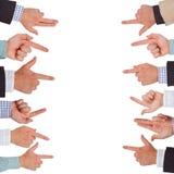 Indicare le mani Fotografie Stock Libere da Diritti