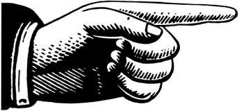 Indicare mano 2 illustrazione vettoriale