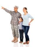 Indicare militare della famiglia Immagine Stock Libera da Diritti