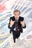 Indicare ricco dell'uomo di affari Fotografie Stock Libere da Diritti