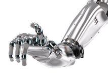 Indicare robot della mano Fotografia Stock Libera da Diritti