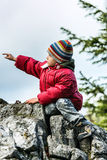 Indicare solo di Little Boy via Immagini Stock Libere da Diritti