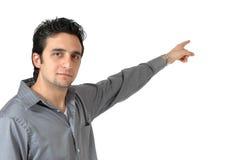 Indicare uomo d'affari Fotografia Stock