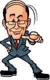 Indicare uomo d'affari Immagine Stock Libera da Diritti