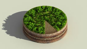 Indicate about 90 percents circle diagram, chart. Eco Infographic elements with trees, leaves, earth and grass. stock video
