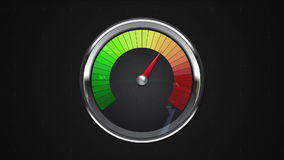 Indicated one o'clock point of gauge. animation.(included alpha) stock footage