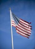Indicateur américain déchiré en lambeaux Photographie stock libre de droits