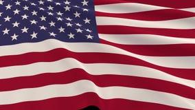 Indicateur américain dans le vent illustration stock