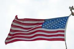 Indicateur américain dans le vent images libres de droits