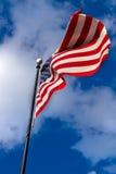 Indicateur américain dans le vent photo libre de droits