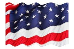 Indicateur américain de ondulation d'isolement sur le fond blanc Photos libres de droits