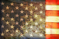 Indicateur américain grunge image libre de droits
