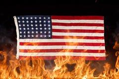 Indicateur américain grunge Images libres de droits