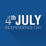 Indicateur américain 4 juillet Photographie stock libre de droits