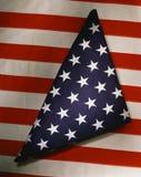 Indicateur américain triangulaire plié Photographie stock