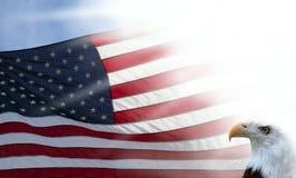 Indicateur américain et aigle Photographie stock libre de droits