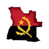 Indicateur Angola de vecteur Photos libres de droits