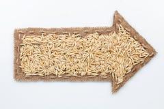 Indicateur avec des grains d'avoine Image libre de droits