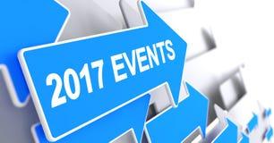 Indicateur bleu - 2017 événements 3d Images stock