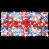 Indicateur britannique dans les fausses pierres Images stock